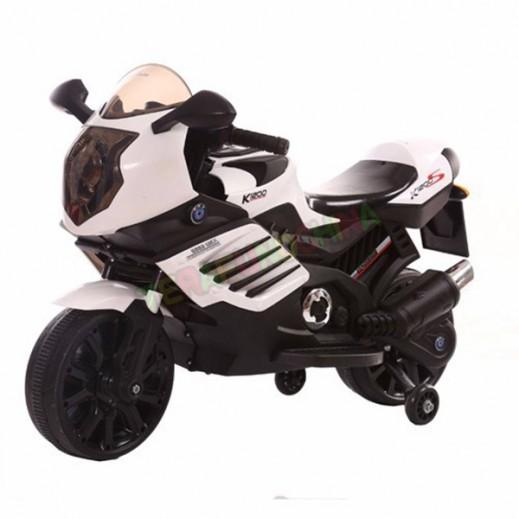 دراجة كهربائية للأطفال - (أبيض) - يتم التوصيل بواسطة Click Toys
