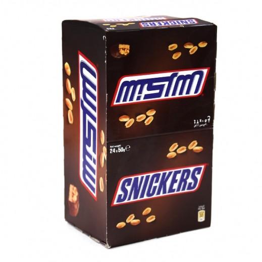 سنيكرز - شوكولاته مينيتشرز 50 جم (17 + 7 مجاناً)