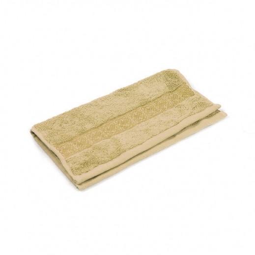 فيلدكرست - منشفة مطرزة للوجه - لون بني 33×33 سم