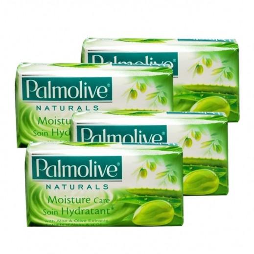 بالموليڤ – صابون متوازن وناعم بخلاصة الألوفيرا وزيت الزيتون 4 × 170 جم