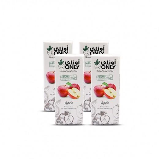 أونلي - عصير التفاح العضوي 4 × 200 مل