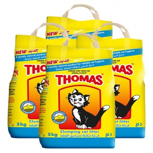 توماس – فرشة تراب متكتلة لصناديق القطط 4×5 كجم - أسعار الجملة