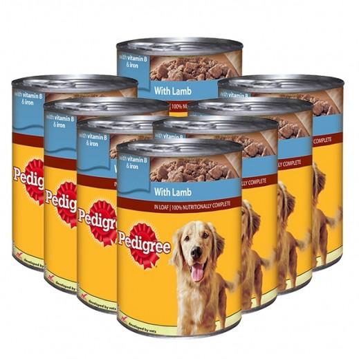 بيديغري - طعام الكلاب مع لحم الغنم 400 جم (8 حبة)