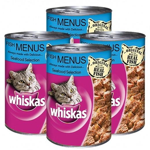 ويسكاس – وجبة طعام للقطط منتقاه من الأسماك البحرية 400 جم (4 حبة)