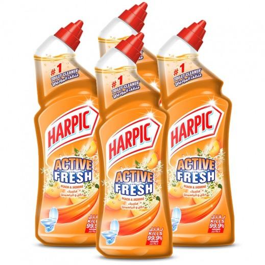 """هاربيك – منظف الحمام """" دراق و ياسمين """" 4 حبة × 750 مل – أسعار الجملة"""