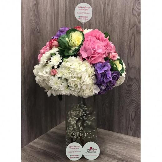 فازة زهور الهيدرنجا - يتم التوصيل بواسطة Gate Of Flowers