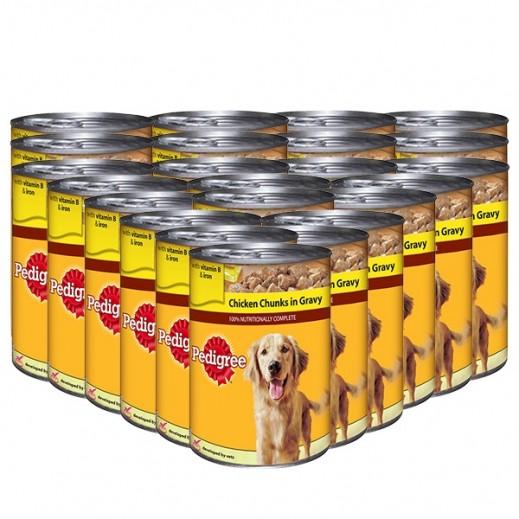 بيديغري - طعام الكلاب مع قطع الدجاج في المرق 400 جم (24 حبة) - أسعار الجملة
