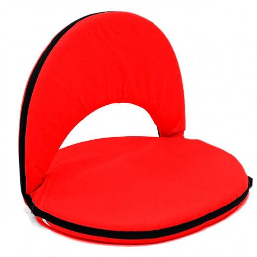 مقعد أرضي بظهر قابل للطي والتعديل - أحمر