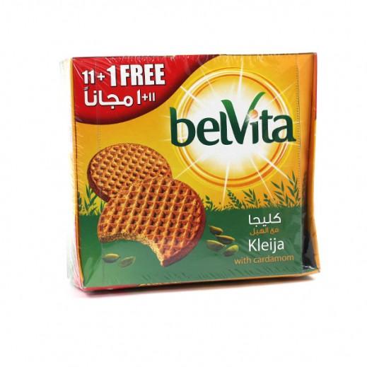 """بلفيتا – بسكويت """" كليجا """" بالهيل 62 جم (11 حبة + 1 مجاناً)"""