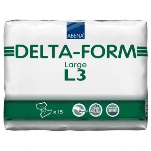 أبنا – حفاضات دلتا فورم الصحية لكبار السن حجم كبير - 15 حبة  - يتم التوصيل بواسطة Al Essa Company