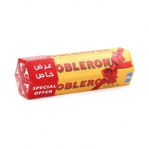 توبليرون - شوكولاتة الحليب بالعسل واللوز 6 حبة ×50 جم (عرض خاص)