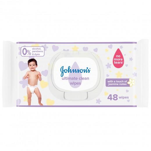 جونسون - مناديل النظافة المثالية - 48 منديل