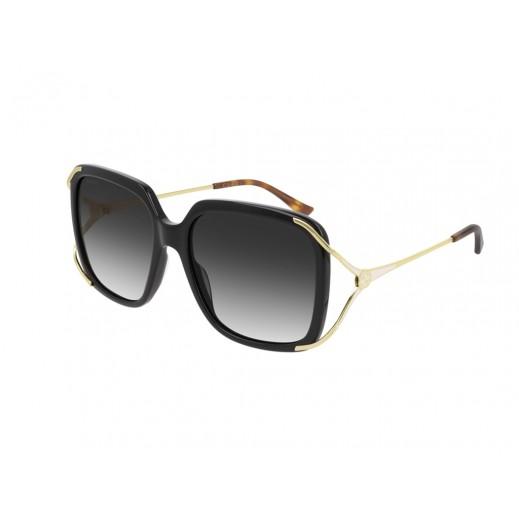 جوتشي - نظارة شمسية مربعة للسيدات - أسود 56 مم  - يتم التوصيل بواسطة Waleed Optics