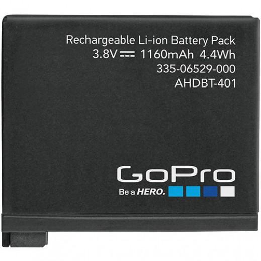 GOPRO هيرو 4 بطارية قابلة لاعادة الشحن AHDBT-401