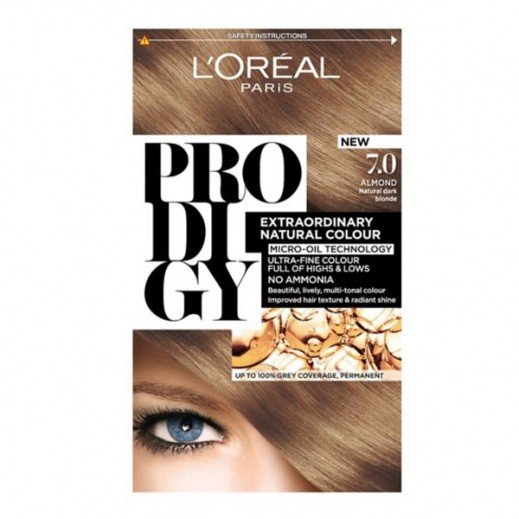 """لوريل باريس – صبغة شعر """"Prodigy"""" الطبيعية رقم 7 لون لوزي"""