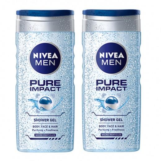 نيفيا - جل استحمام بيور إمباكت (2 × 250 مل)