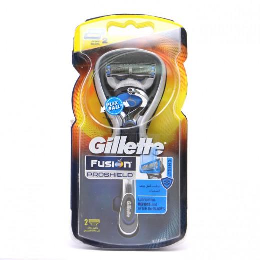جيليت – ماكينة حلاقة فيوجن بروشيلد مع 2 رأس حلاقة للاستبدال