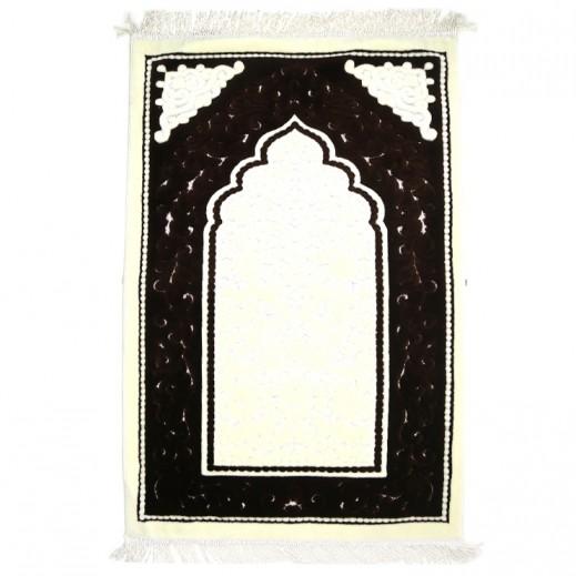 سجادة الصلاة بني داكن