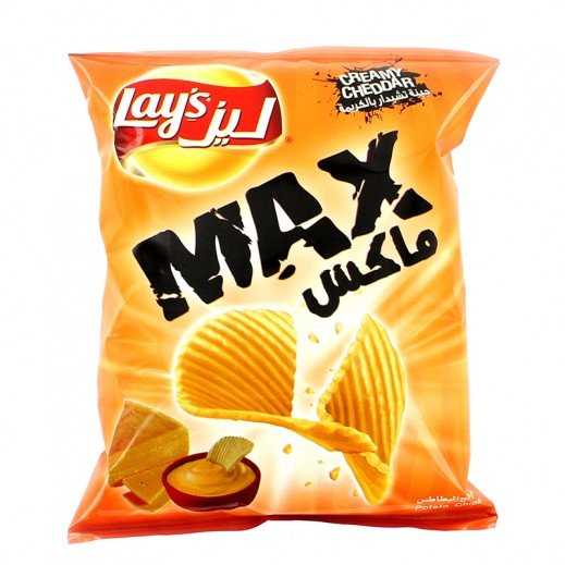 ليز – بطاطا شيبس ماكس بكريمة جبنة شيدر 50 جم