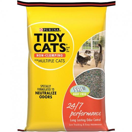 تايدي كاتس – تراب فضلات القطط  بفاعلية 24/7 - 4.54 كجم