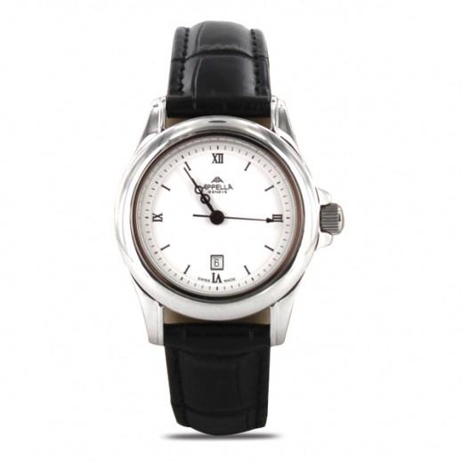 أبيلا – ساعة يد سويسرية  للسيدات  من  الجلد موديل(AP-4034.03.0.1.01)