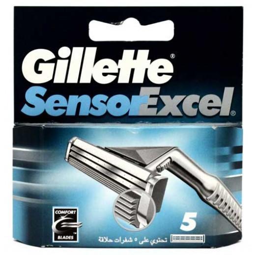 جيليت – شفرات حلاقة Sensor  المزدوجة – 5 حبات