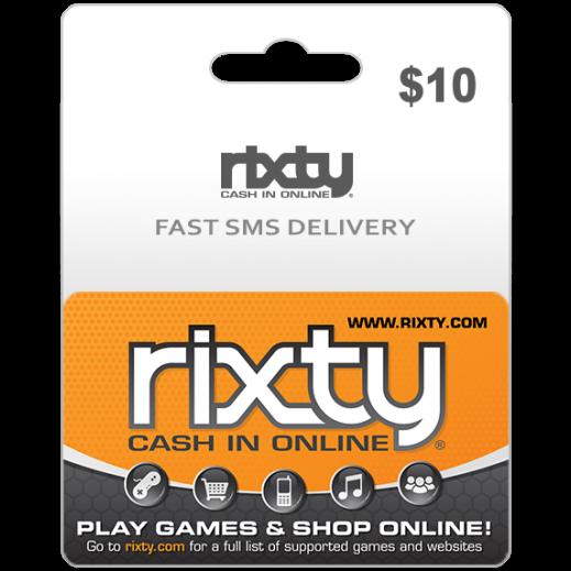 بطاقة فورية Rixty بقيمة 10 دولار