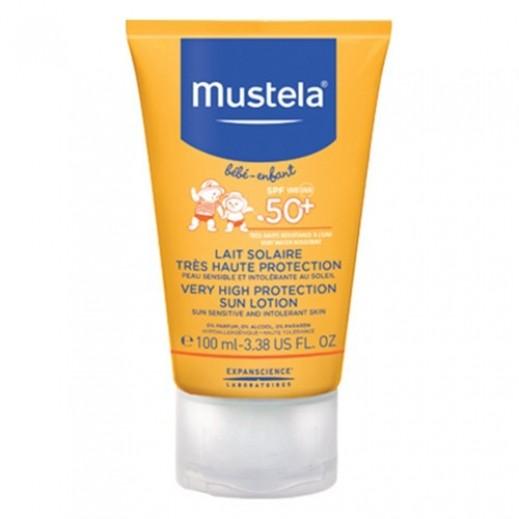 موستيلا - لوشن واقي من الشمس للرضع حماية +50 100 مل