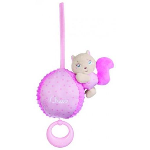 شيكو–  صندوق دمية الدب الوردي الموسيقية للأطفال