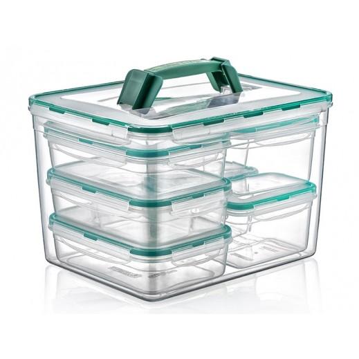 بلاست آرت - طقم أوعية بلاستيك لحفظ وتخزين الطعام 8 حبة