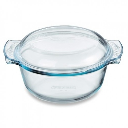بايركس – وعاء طهي زجاجي دائري مع غطاء – 1.5 لتر
