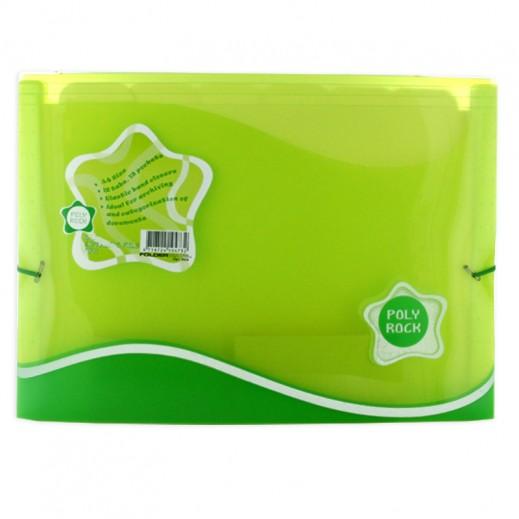 فولدرميت - ملف الأوراق 13 جيب – أخضر