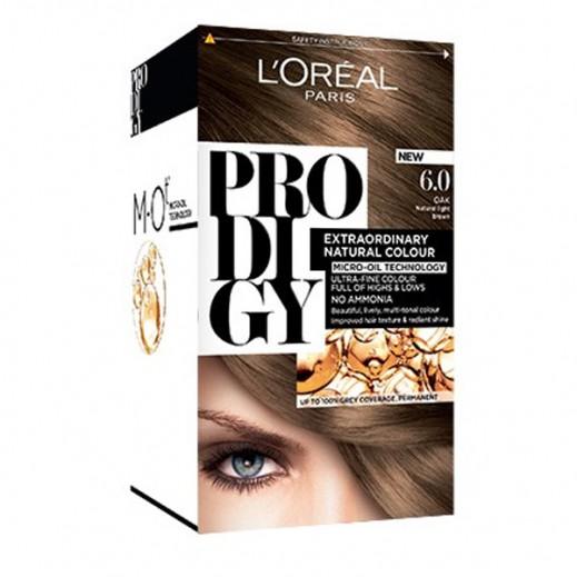 """لوريل باريس – صبغة شعر """"Prodigy"""" الطبيعية رقم 6 لون السنديان"""