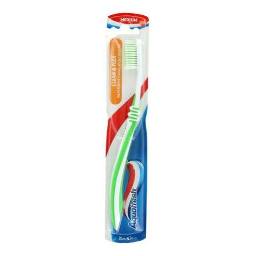 """أكوافريش – فرشاة أسنان """"Clean & Flex"""" - متوسطة"""