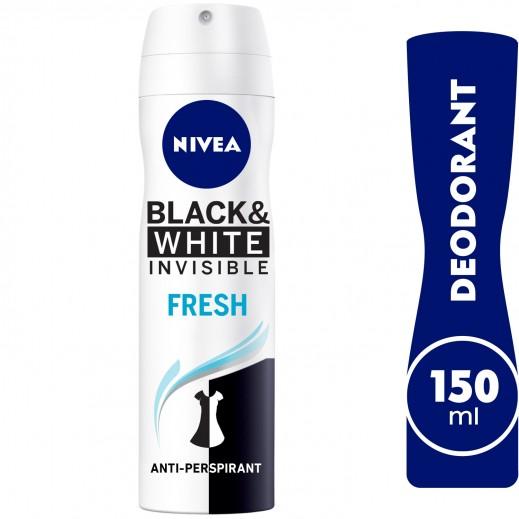 """نيڤيا – مزيل عرق """" إنڤيزيبل"""" سبراي للملابس السوداء والبيضاء  للسيدات 150 مل"""