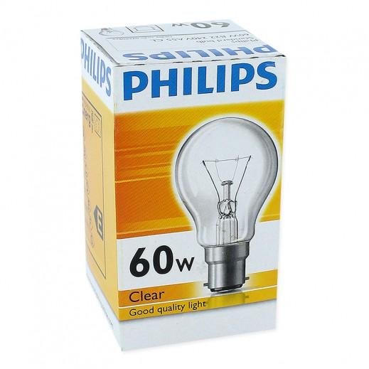 فيليبس – مصباح شفاف B22 – بقوة 60 واط