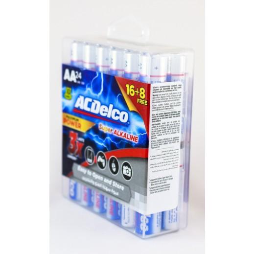 أي سي ديلكو – بطارية ألكالين AA قوة 1.5 فولت عبوة 16+8 حبة مجاناً