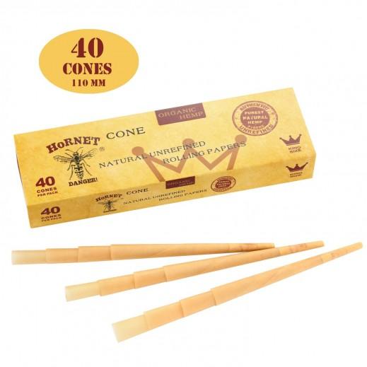 هورنيت - ورق سجائر بني ملفوف مسبقاً بشكل مخروط 40 ورقة
