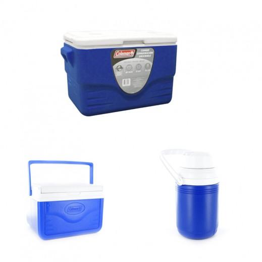 كولمان – حافظة البرودة 36 كوارتز ( باقة الكومبو ) - أزرق
