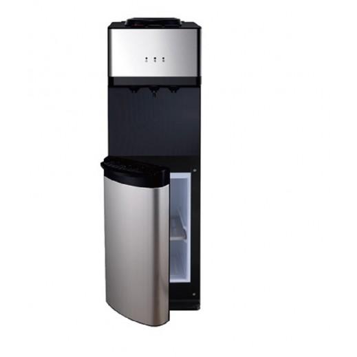 ميديا – براد مياه 3 منافذ مع خزانة – أبيض وأسود - يتم التوصيل بواسطة  AL-YOUSIFI CO.