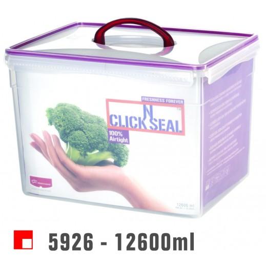 برينس وير - وعاء Click N بغطاء لحفظ وتخزين الأطعمة 12600 مل