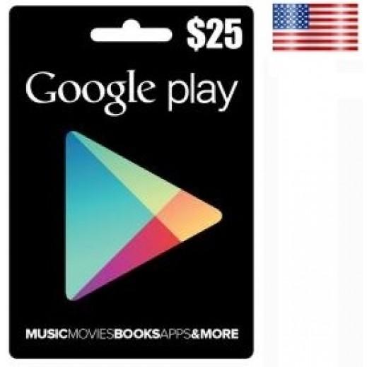 بطاقة GOOGLE PLAY بقيمة 25 دولار للحسابات الأمريكية فقط –  إستلم فورا على بريدك الإلكتروني