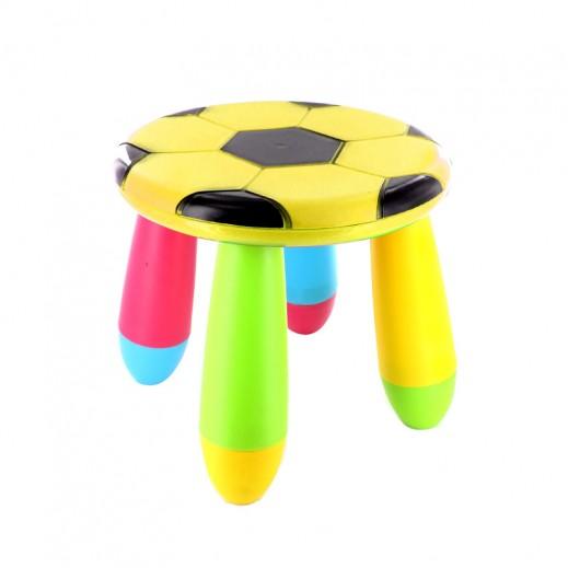 كرسي الأطفال بتصميم كرة القدم – أصفر