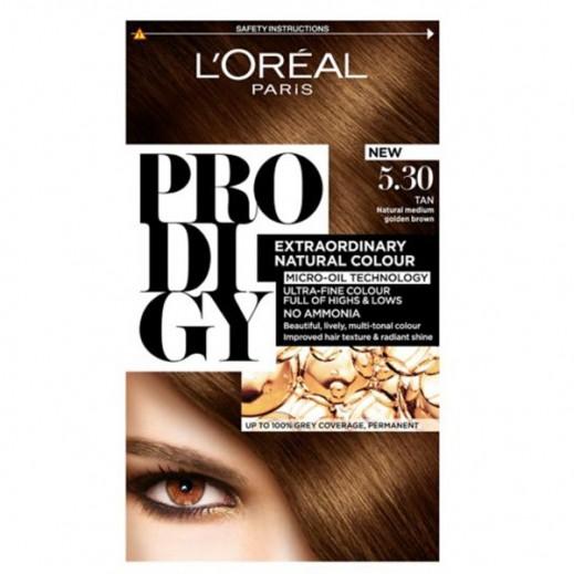 """لوريل باريس – صبغة شعر """"Prodigy"""" الطبيعية رقم 5.3 لون أسمر"""