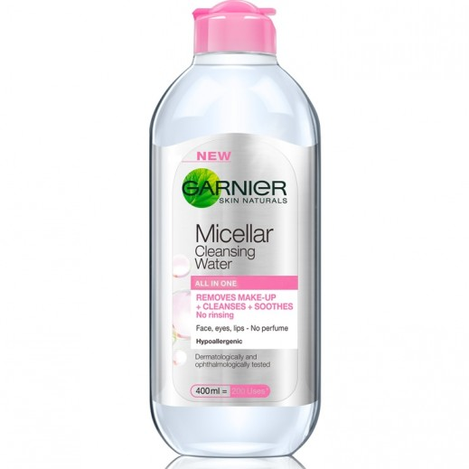 Garnier Skinactive Micellar Cleansing Water Removes Makeup 400 ml 25% Free Prom