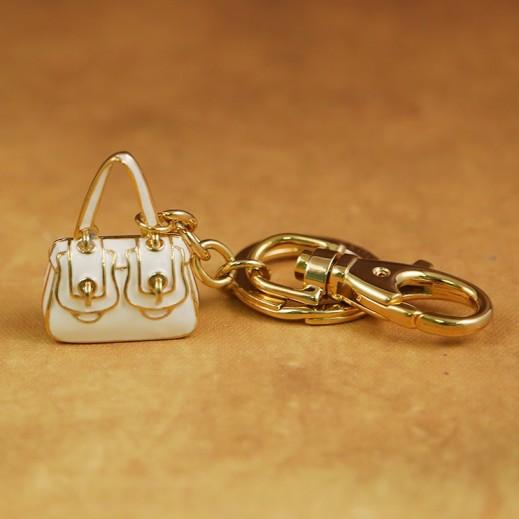 بيبلوس – حاملة مفاتيح - ذهبي/ابيض