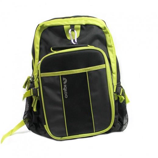 إجلو – حقيبة مدرسية 2  قطعة – أسود و أخضر