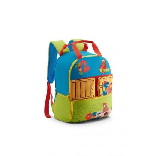 أميركان توريستر - حقيبة ظهر Coodle 02 مدرسية - أخضر وأزرق