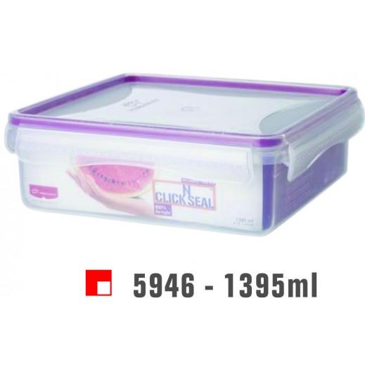 برينس وير - وعاء Click N بغطاء لحفظ وتخزين الأطعمة 1395 مل