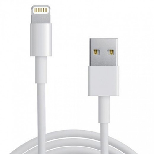 Parmp Lightning USB Data Cable 2 M For IOS - White
